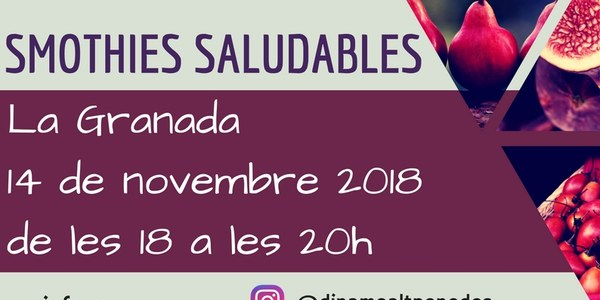TALLER DE CUINA SALUDABLE: SMOTHIES SALUDABLES (suspès)