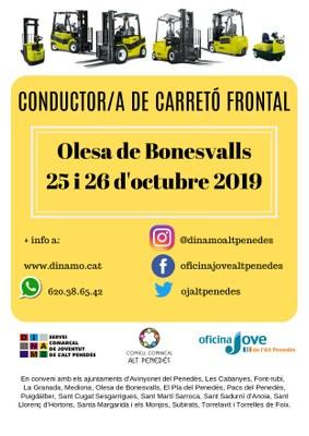 CONDUCTOR/A DE CARRETÓ FRONTAL A OLESA DE BONESVALLS