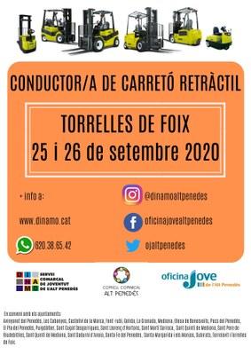CONDUCTOR/A DE CARRETÓ RETRÀCTIL A TORRELLES DE FOIX 2020-COMPLET-