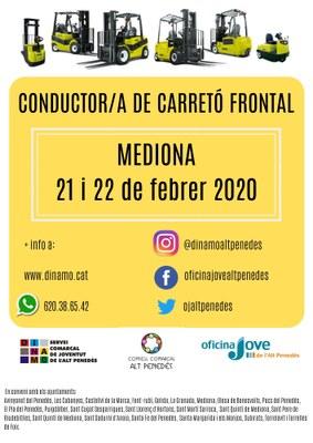 CONDUCTOR/A DE CARRETÓ FRONTAL A MEDIONA 2020