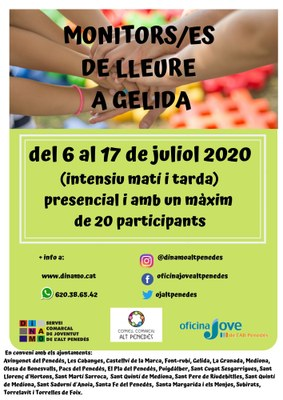 MONITORS/ES DE LLEURE A GELIDA 2020  INTENSIU