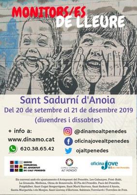 MONITORS/ES DE LLEURE A SANT SADURNÍ D'ANOIA