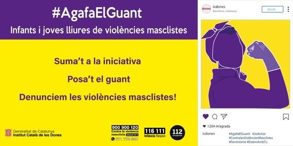 #AgafaElGuant. Infants i joves lliures de violències masclistes