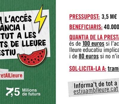 Ajut a famílies per fer econòmicament més accessibles les activitats del lleure educatiu a Catalunya