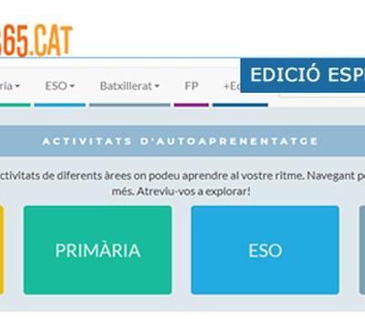 EDICIÓ ESPECIAL EDU365 COVID19