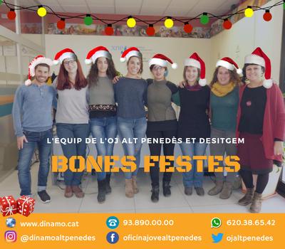 L'Oficina Jove de l'Alt Penedès - Dinamo - us desitja un Bon Nadal i un Feliç HOLA 2018!